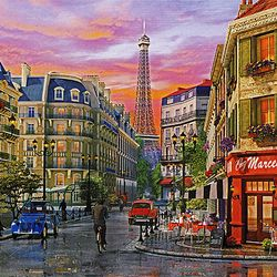 500조각 직소퍼즐 - 에펠탑의 거리 (CA5105A)