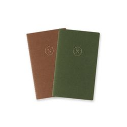 19 HALF DIARY set-green brown