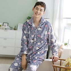 쁘띠쁘랑하트캣밍크 남성잠옷
