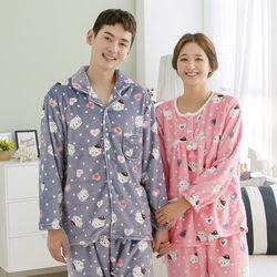 쁘띠쁘랑하트캣밍크 커플잠옷