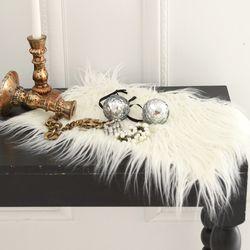 러블리 램 fur 테이블매트-아이보리