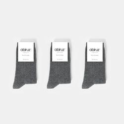 남녀공용 챠콜 립삭스 3팩 세트