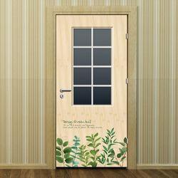 현관문시트지 에어프리-디자인 그린 리프 01