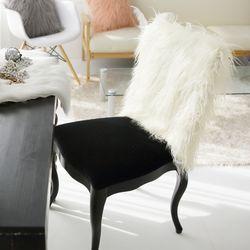 러블리 램 fur 체어커버-아이보리