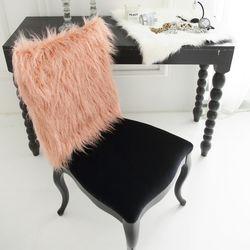 러블리 램 fur 체어커버-핑크