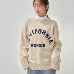 california wool round knit
