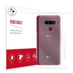 LG V40 씽큐 유광후면+유광측면 외부보호필름 2매