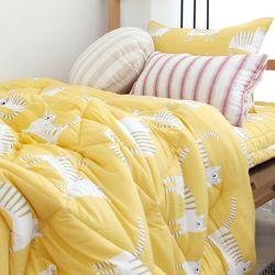 잠자는 고양이 모달 가을차렵이불(옐로우)-싱글이불베개패드세트
