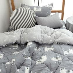 잠자는 고양이 모달 가을차렵이불(그레이)-싱글이불베개패드세트