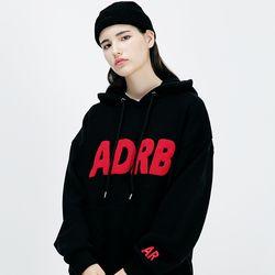 아더로브 ADRB LOGO 오버핏 후드티 AHD183001-BK