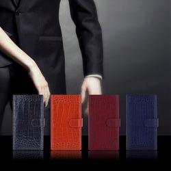 B08 Wallet croco 전기종주문제작가능 천연소가죽 폰케이스지갑