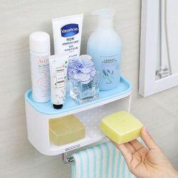 모디 부착식 트랜디 욕실선반 블루