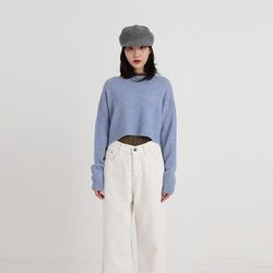 flow soft crop knit (4colors)