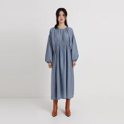 leah shirring one-piece (2colors)