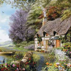 500조각 직소퍼즐 - 호숫가 작은 집 (CA5115A)
