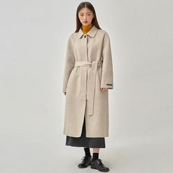 chocolate handmade coat (wool90)