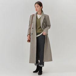mannish wool long coat