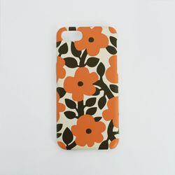 하드케이스 오렌지 플라워 (갤럭시s7)
