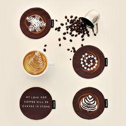 [Fabric] Latte Art Pattern Oxford (라떼 아트)