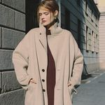 CASHMERE LONG COAT OATMEAL