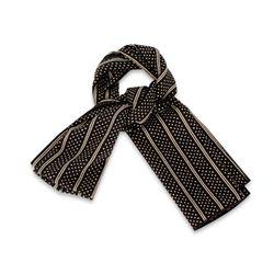 투라인 패턴 블랙 스카프SF205