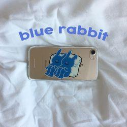 blue rabbit (clear) 아이폰케이스