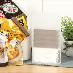 밀봉클립 봉지 비닐 봉투 밀폐 집게(디스펜서포함10P)