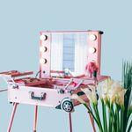 [리퍼브] LED 조명 수납화장대 마이퍼펙트데이 핑크