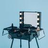 리퍼브 LED 조명 수납화장대 마이퍼펙트데이 블랙