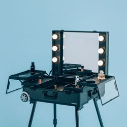 [리퍼] LED 조명 수납화장대 마이퍼펙트데이 블랙