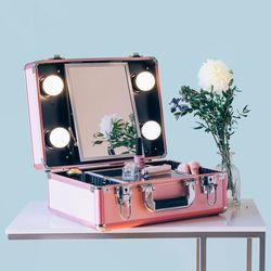 [리퍼] LED 조명 미니화장대 마이러블리데이 핑크