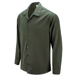 돈 비 구피 오픈카라 오버핏 카키 캐주얼 셔츠DIS035