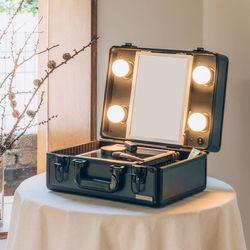 [리퍼]LED 조명 미니화장대 마이러블리데이 블랙