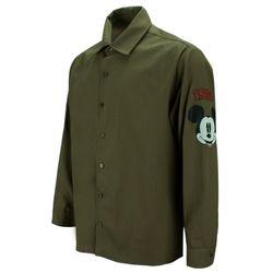 1928 미키 오버핏 카키 캐주얼 셔츠DIS006