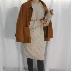 Wool twist knit ops울30