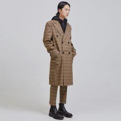 retro check double coat - UNISEX