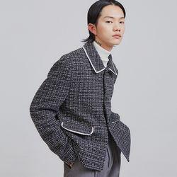 tweed crop jacket - UNISEX