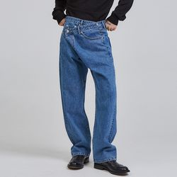 wide lab denim pants - UNISEX