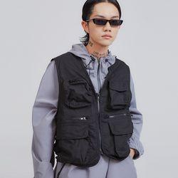 techwear multi pocket vest (2 color) - UNISEX