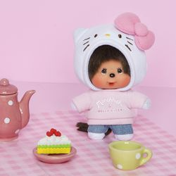 몬치치 Hello Kitty x Monchhichi Big Head SS Mascot
