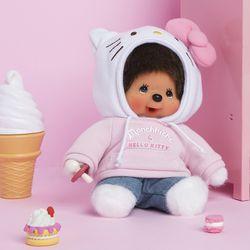 헬로키티 x 몬치치 인형 Hello Kitty x Monchhichi S