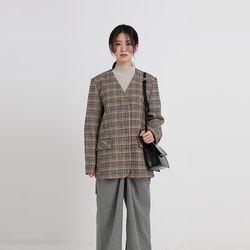 collarless wool jacket (2colors)