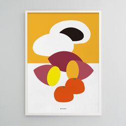 유니크 인테리어 디자인 포스터 M 겨울간식 A3(중형)