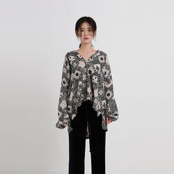 paisley balloon blouse (2colors)