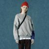Color block sweatshirt-gray
