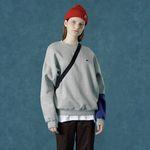 [앤커버] Color block sweatshirt-gray