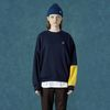 [앤커버] Color block sweatshirt-navy