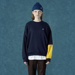 [앤커버] Color block sweatshirt-navy