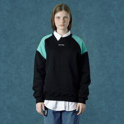 [앤커버] embroidery sweatshirt-black