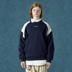 [앤커버] embroidery sweatshirt-navy